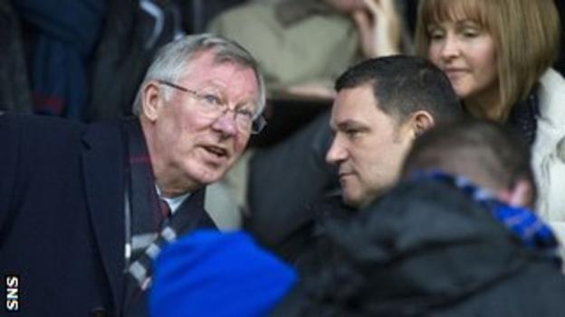 Sir Alex Ferguson (left) with St Johnstone chairman Steve Brown at McDiarmid Park