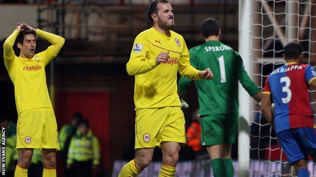 Cardiff City's Peter Whittingham and Jordon Mutch