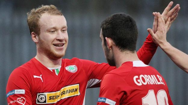 Liam Boyce and Joe Gormley were both on target in Cliftonville's victory over Glenavon at Solitude