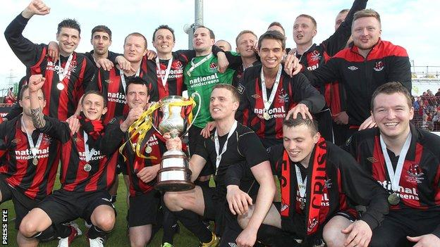 Crusaders were the Irish League club to win the Setanta Cup in 2012