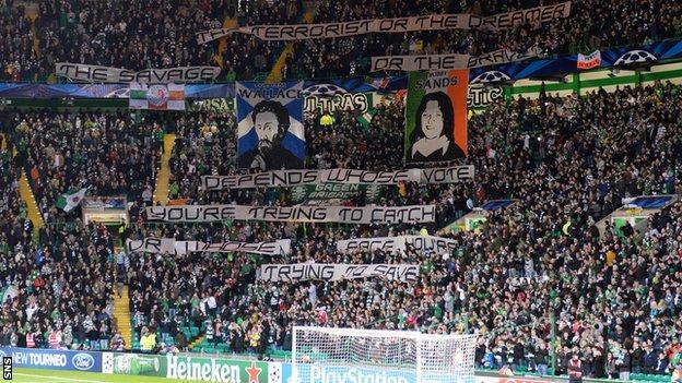 Celtic fans' banner
