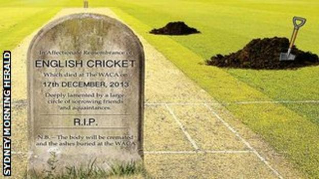 The Sydney Morning Herald has predicted that England's Ashes hopes will be buried by the end of the Perth Test.