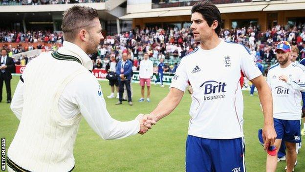Michael Clarke and Alastair Cook