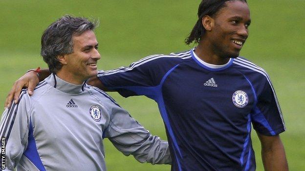 Jose Mourinho and Didier Drogba