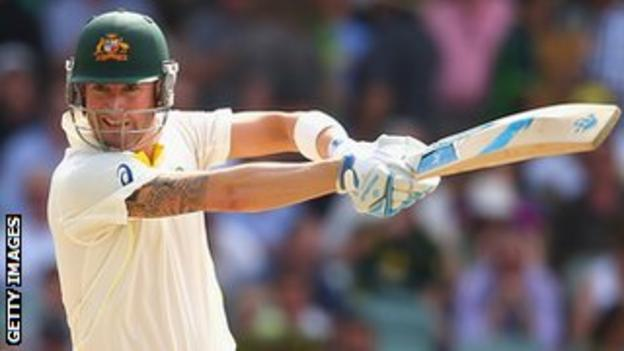 Michael Clarke has improved his batting Ashes form