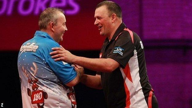 Phil Taylor and Rob Szabo