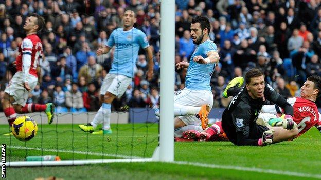 Manchester City striker Alvaro Negredo
