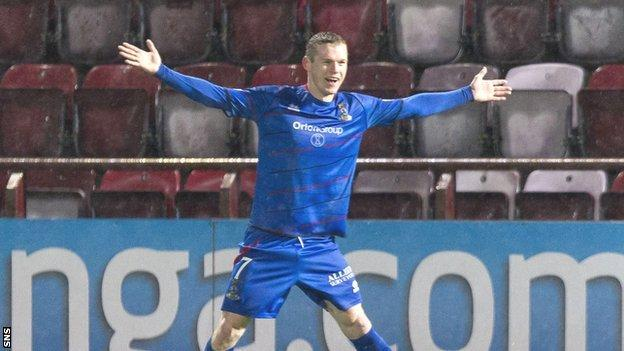 Inverness Caledonian Thistle striker Billy McKay