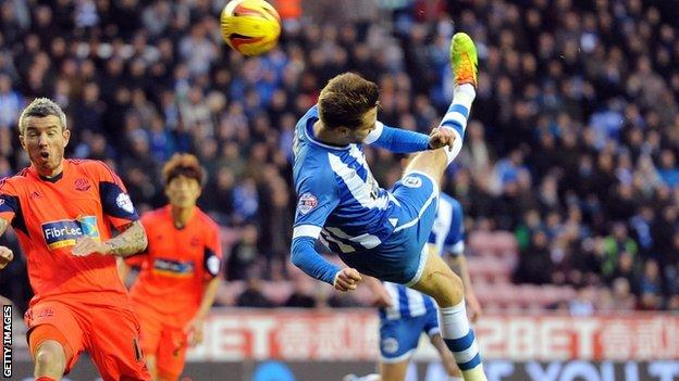 Nick Powell scores for Wigan