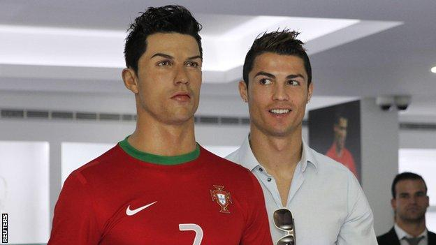 Cristiano Ronaldo at his museum