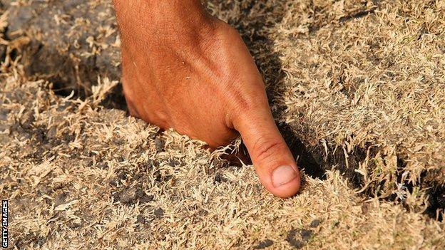 A crack in the Waca pitch