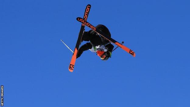 British ski slopestyler James Woods
