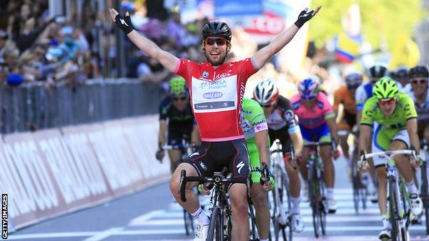 Mark Cavendish at the Giro d'Italia