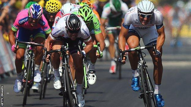Mark Cavendish and Marcel Kittel