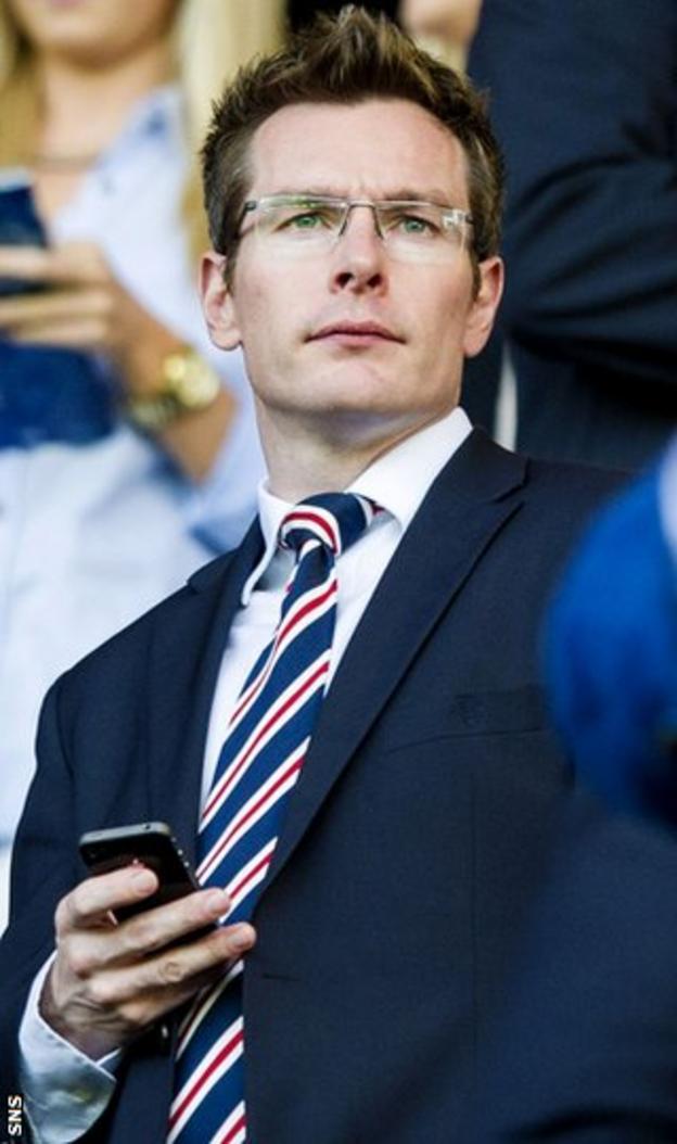 Rangers finance director Brian Stockbridge