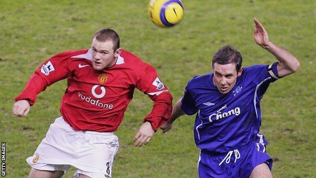 Wayne Rooney and David Weir