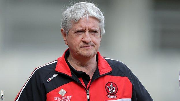 Brian McIver will be without Eoin Bradley for the McKenna Cup campaign