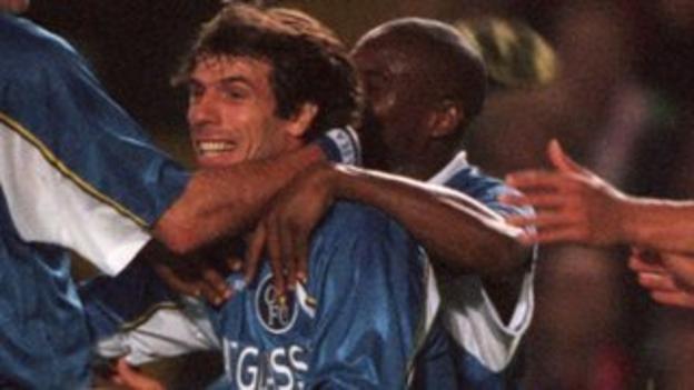 Gianfranco Zola and Frank Sinclair
