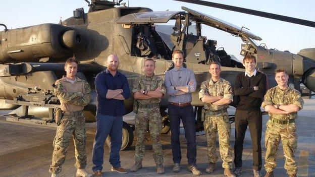 Joint aviation group with Football Focus team