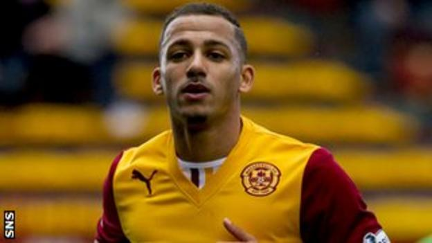 Motherwell winger Lionel Ainsworth
