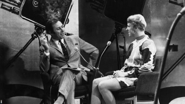 David Coleman talking to Ann Jones, the Sports Personality of 1969