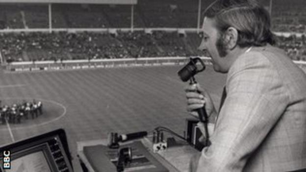 David Coleman commentating on the FA Cup Final in 1974