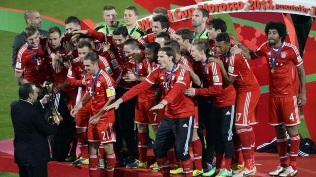 Bayern lift the cup