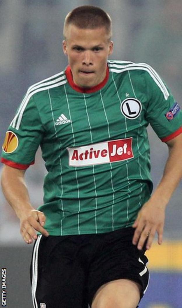 Legia Warsaw forward Henrik Ojamaa