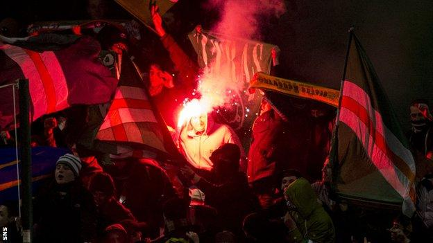 Flares were set off at Celtic's recent match with Motherwell