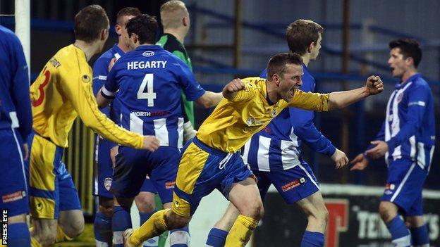 Coleraine lost 2-0 to Dungannon Swifts at the Showgrounds