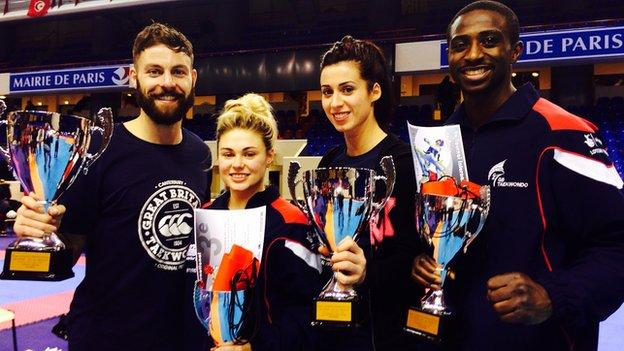 Great Britain taekwondo team at French Open