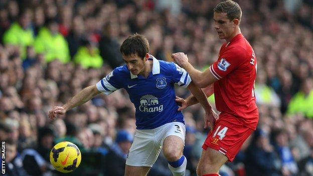 Leighton Baines (left) set to return against Sunderland on Boxing Day after injury lay-off