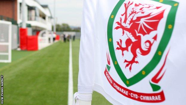 FAW logo on a corner flag