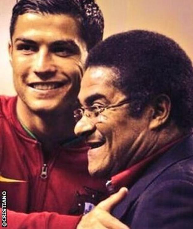 Cristiano Ronaldo and Eusebio