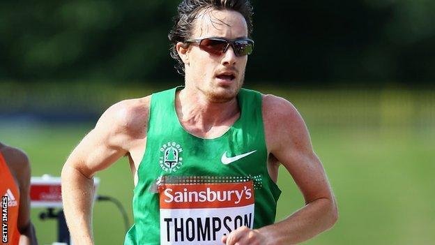 Chris Thompson during the Mens 5000m at the IAAF Diamond League in Birmingham