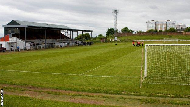 Cliftonhill, home of Albion Rovers