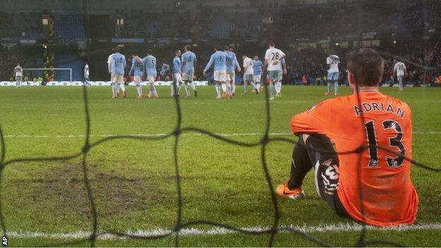 Manchester City beat West Ham