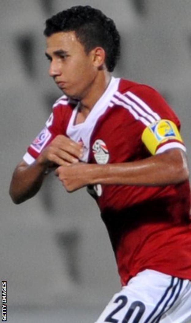 Mahmoud Hassan celebrates with Al-Ahly