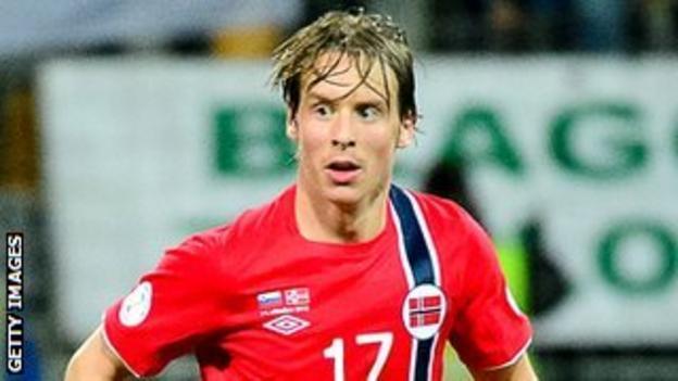 Stefan Johansen in action for Norway