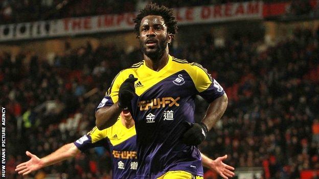 Swansea's Wilfried Bony