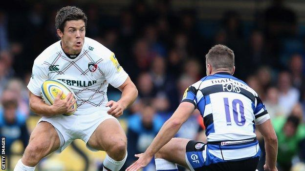 Anthony Allen in action for Leicester Tigers