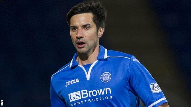St Johnstone striker Rory Fallon