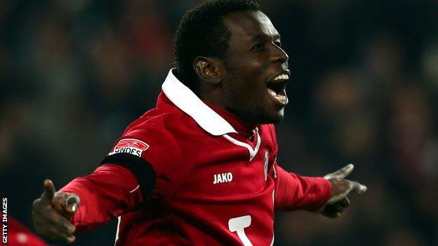 Hannover 96 striker Mama Diouf
