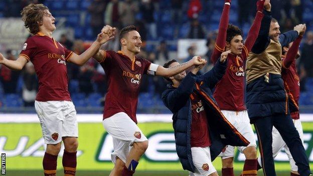 Roma beat Genoa