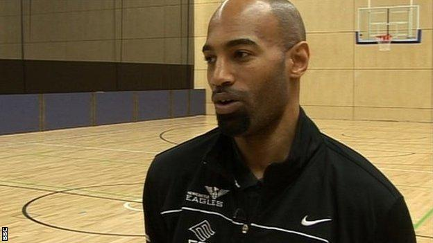 Newcastle Eagles player-coach Fab Flournoy
