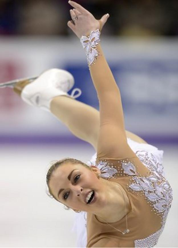 Jenna McCorkell competing at the 2013 World Figure Skating Championships in London