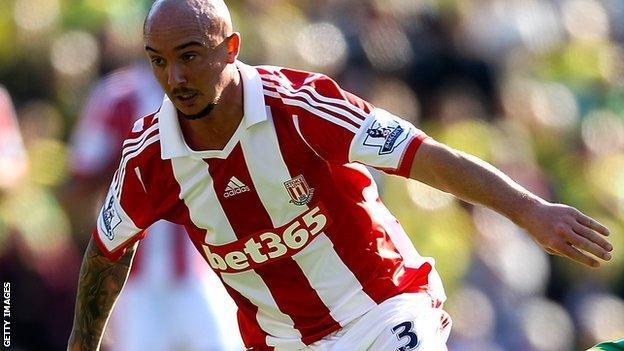 Stoke midfielder Stephen Ireland