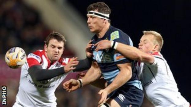 Cardiff's Robin Copeland in action against Ulster this season