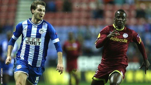 Nick Powell of Wigan