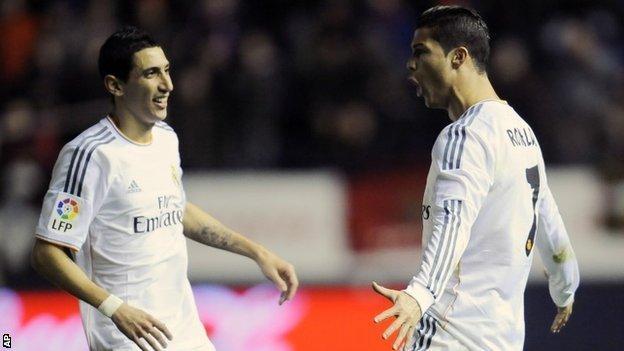 Angel di Maria and Cristiano Ronaldo